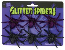 Picture of Glitter Spider Pack 6ct (More Colors)