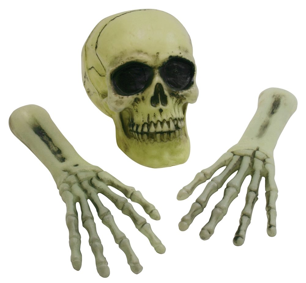 Picture of Out of the Grave Light-Up Skeleton Decoration