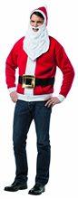 Picture of Santa Adult Mens Hoodie