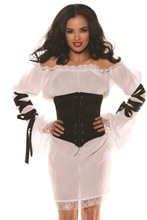 Picture of Black Faux Leather Waist Cincher
