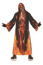 Picture of Underworld Burning Skeleton Adult Robe