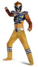 Picture of Power Rangers Dino Charge Gold Ranger Muscle Child Costume