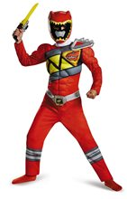 Picture of Power Rangers Dino Charge Red Ranger Muscle Child Costume