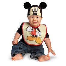 Picture of Mickey Mouse Bib & Hat Set