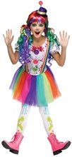 Picture of Crazy Colorful Clown Child Costume