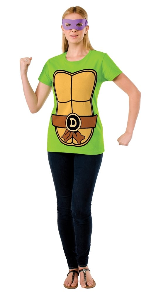 Picture of TMNT Donatello Adult Womens T-Shirt & Mask Set