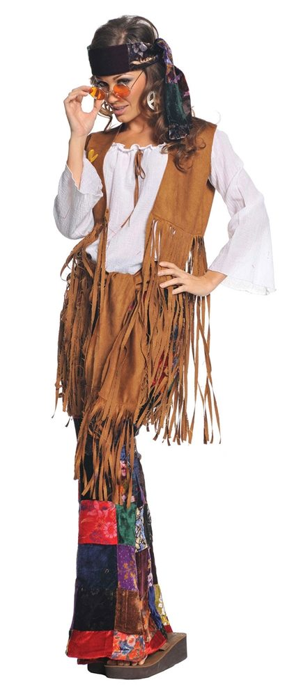 Picture of 60s Peace Out Hippie Adult Womens Costume