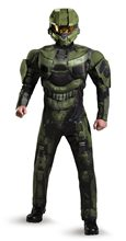 Picture of Halo Deluxe Master Chief Muscle Adult Mens Costume