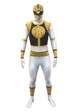 Picture of White Power Ranger Morphsuit Adult Unisex Costume