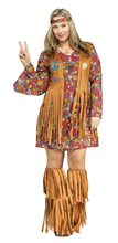 Picture of Peace & Love Hippie Adult Womens Plus Size Costume