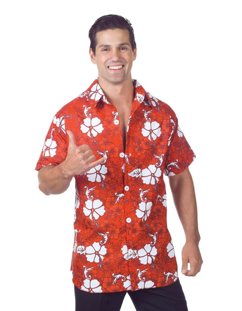 bfff86a0988d Halloweeen Club Costume Superstore. Red Hawaiian Aloha Adult Mens ...