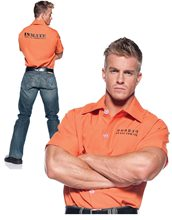 Picture of Orange Prison Inmate Adult Mens Plus Size Shirt