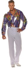 Picture of Groovy Metallic Disco Adult Mens Shirt