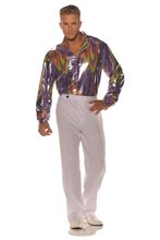Picture of Groovy Metallic Disco Adult Mens Plus Size Shirt