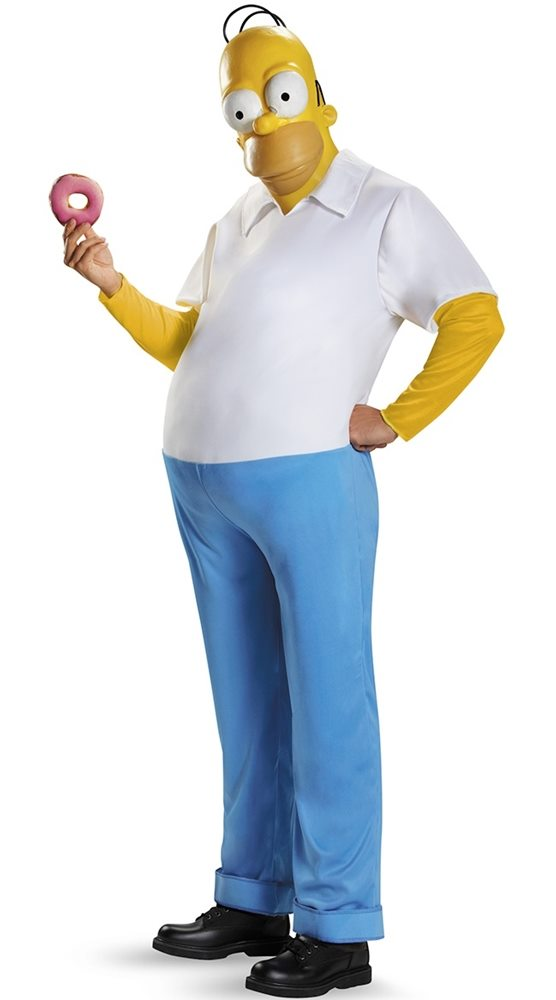 Picture of The Simpsons Homer Deluxe Adult Mens Costume