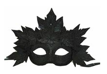 Picture of Black Venetian Leaves Masquerade Mask