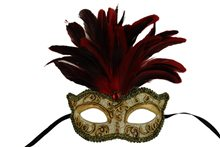 Picture of Harmony Masquerade Mask with Feathers (More Colors)