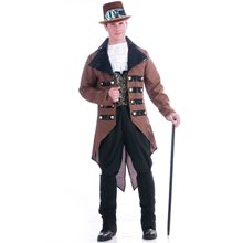 Picture of Steampunk Traveler Adult Mens Jacket