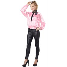 Picture of Pink Satin Ladies Adult Womens Costume