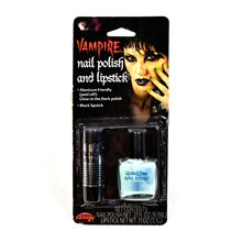 Picture of Vampire Black Glow in the Dark Nail Polish & Lipstick