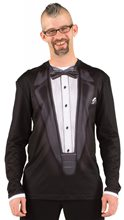 Picture of Black Tuxedo Adult Mens Shirt