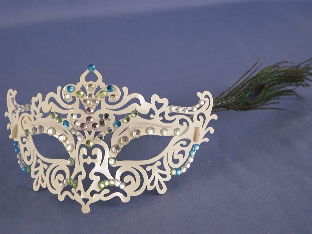 Picture of White Medieval Eye Mask with Frames