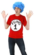 Picture of Dr. Seuss Thing 1 Adult Mens T-Shirt Kit