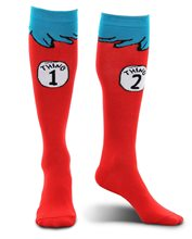 Picture of Dr. Seuss Thing 1&2 Adult Unisex Socks