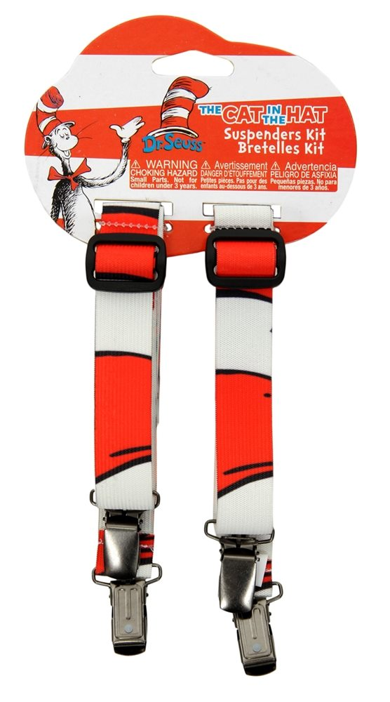 Picture of Dr. Seuss Cat in the Hat Striped Suspenders
