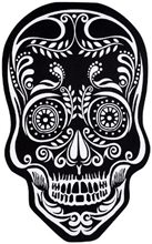 Picture of Black & White Skull Doormat