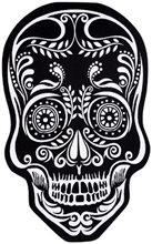 Picture of Black & White Skull Doormat