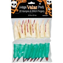 Picture of Witch & Vampire Plastic Fingers Pack