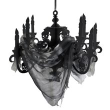 Picture of Haunted Mansion Paper Candelabra with Gauze