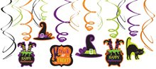 Picture of Witches' Crew Foil Swirl Decorations