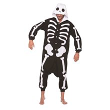 Picture of Skeleton Bones Plush Adult Unisex Onesie