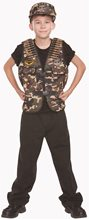 Picture of Combat Captain Camo Child Costume Set