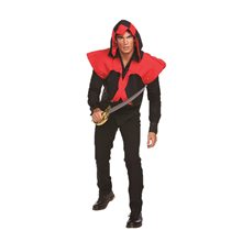 Picture of Pirate Assassin Adult Mens Vest with Hood