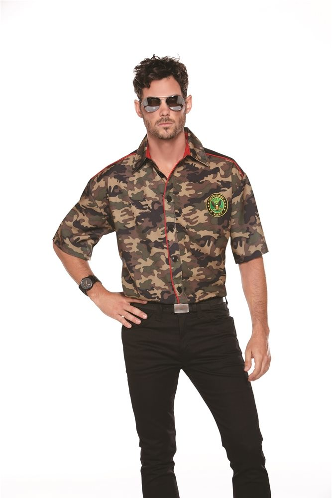 Picture of Army Camo Adult Mens Shirt