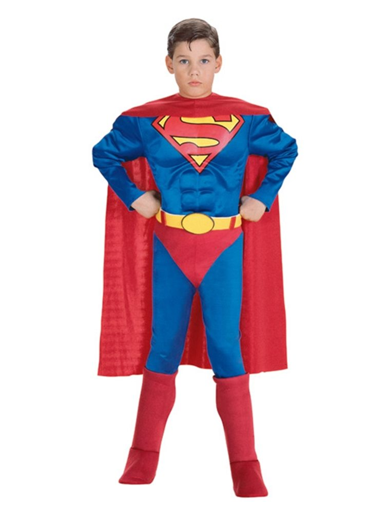 Picture of Deluxe Superman Muscle Chest Child Costume 2 - do not push live