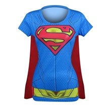 Picture of Supergirl Suit Up Juniors T-Shirt with Cape