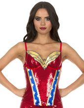 Picture of Wonder Woman Sequin Adult Womens Corset