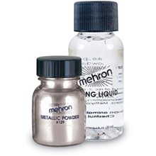 Picture of Mehron Metallic Powder with Mixing Liquid 1 oz (More Colors)