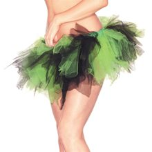 Picture of Black & Neon Green Adult Womens Petticoat