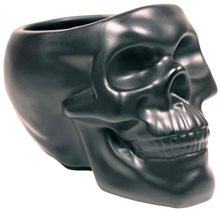 Picture of Black Skull Plant Pot