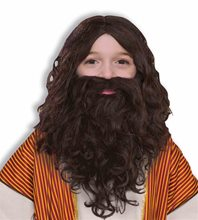 Picture of Biblical Beard & Wig Child Set