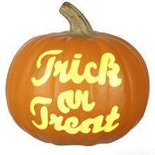 Picture of Trick or Treat Illuminated Pumpkin