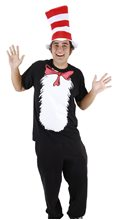 Picture of Dr. Seuss Cat in the Hat Adult T-Shirt Kit