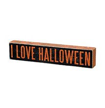 Picture of I Love Halloween Wooden Sign