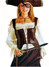 Picture of Renaissance Pirate Adult Womens Vest