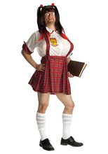 Picture of School Girl Adult Mens Costume with Inflatable Boobs